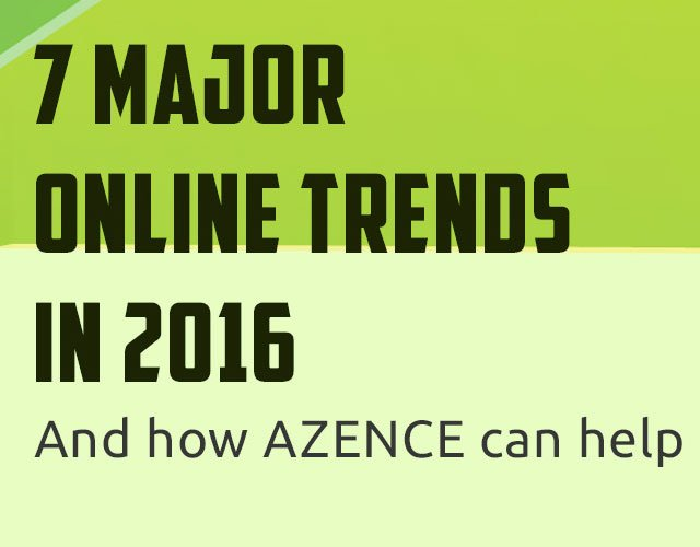Infographic: 7 Major Online Trends in 2016